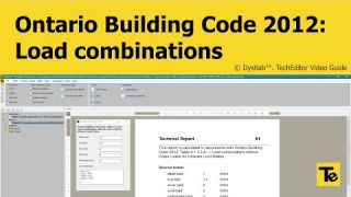 TechEditor 1.0.2 | Load combinations without Crane Loads for Ultimate Limit States (OBC 2012)